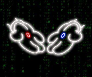 Neón - Manos Mickey Matrix